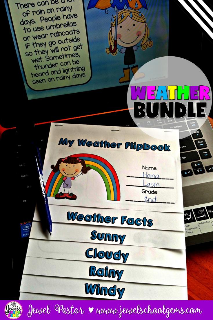weather activities bundle powerpoint flipbook and qr codes