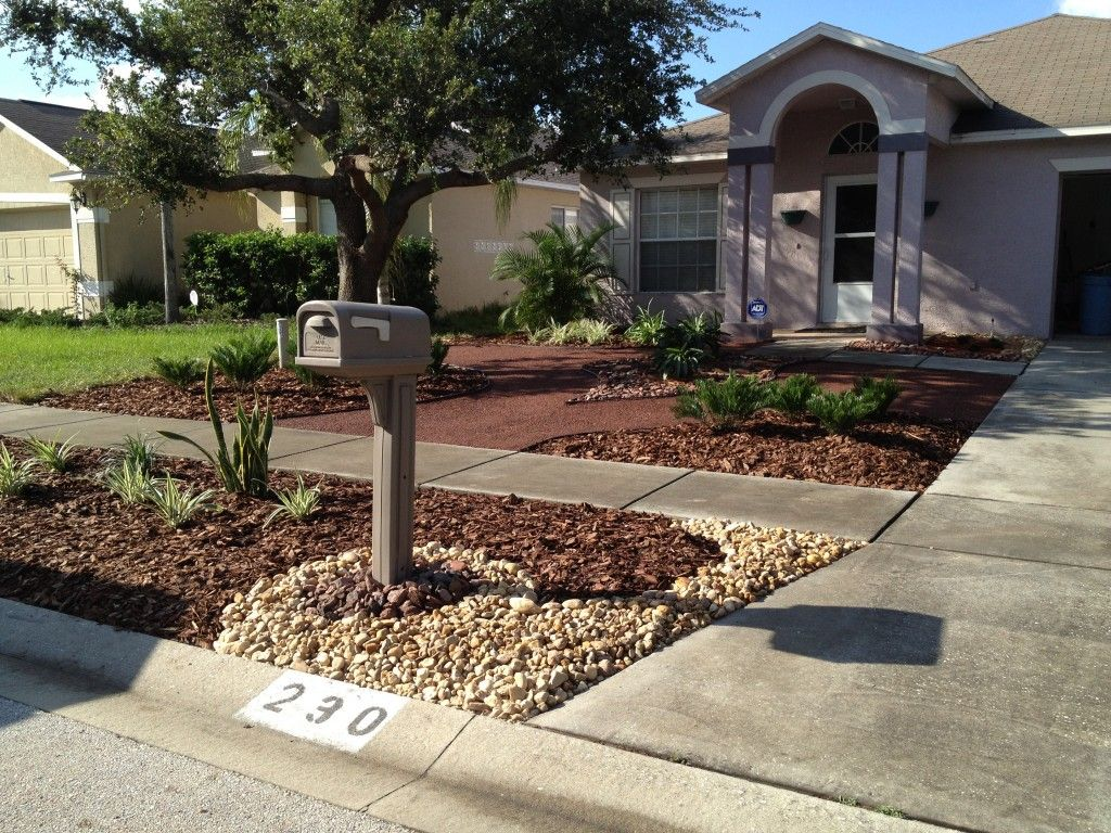 Another Grassless Yard | Small front yard landscaping ...