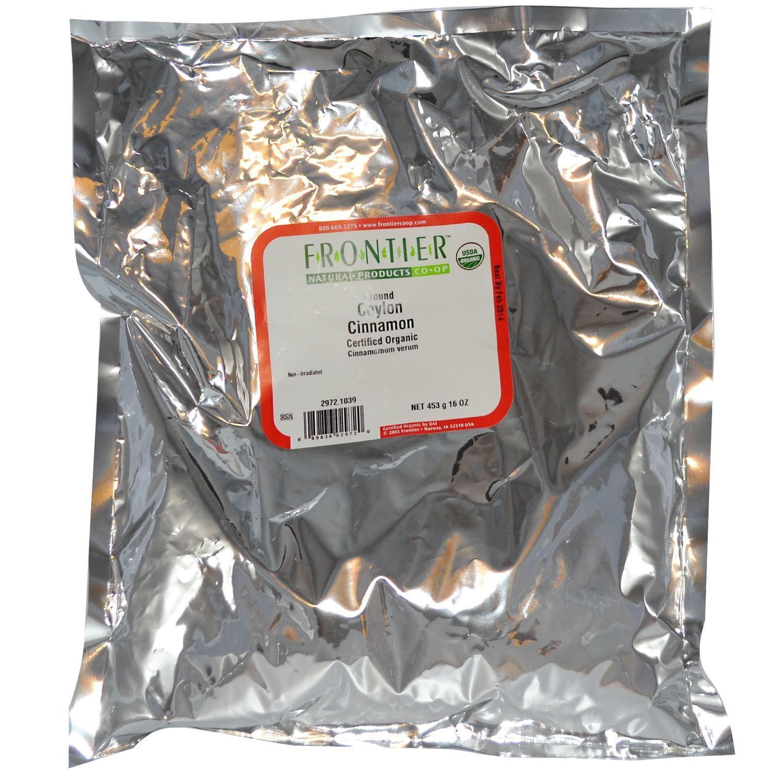 Frontier Natural Products, Organic Ground Ceylon Cinnamon, 16 oz (453 g) - iHerb.com