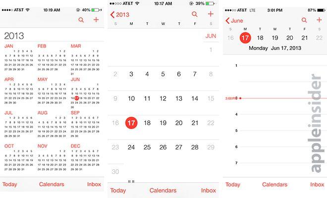 apple calendar template