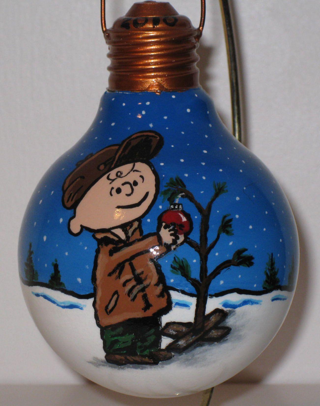 Snowman Lightbulb Ornament