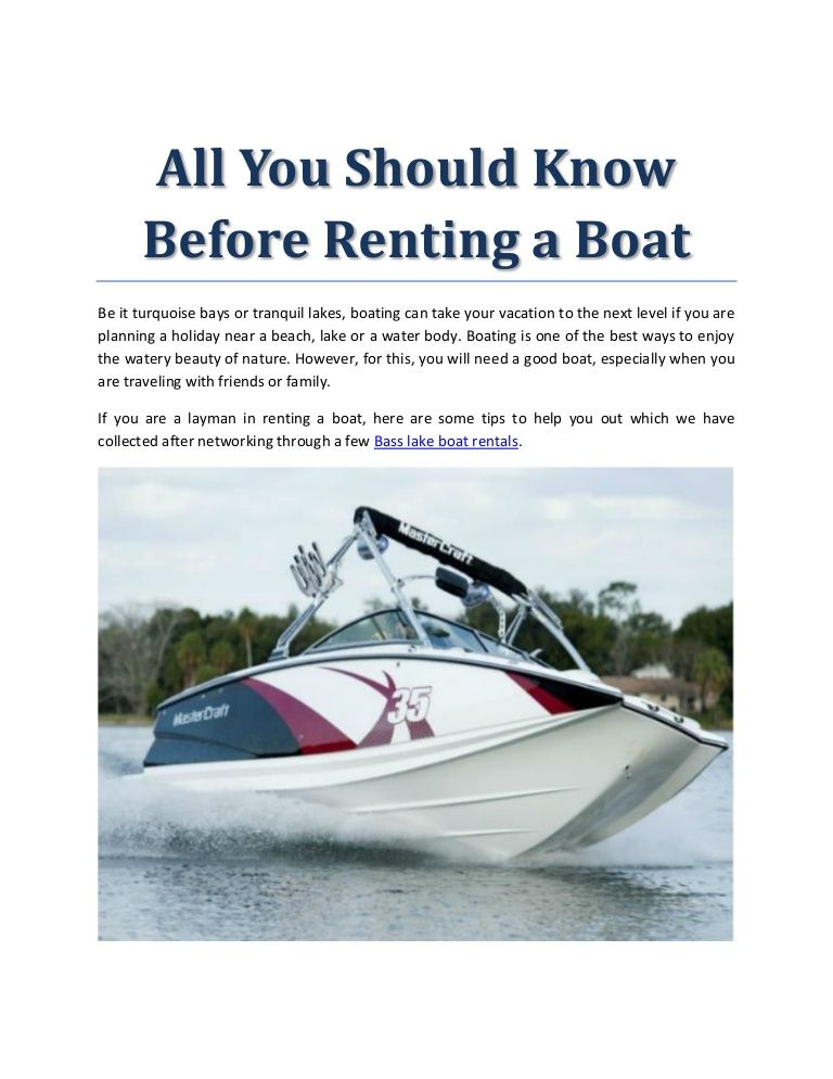 All you should know before renting a boat boat boat