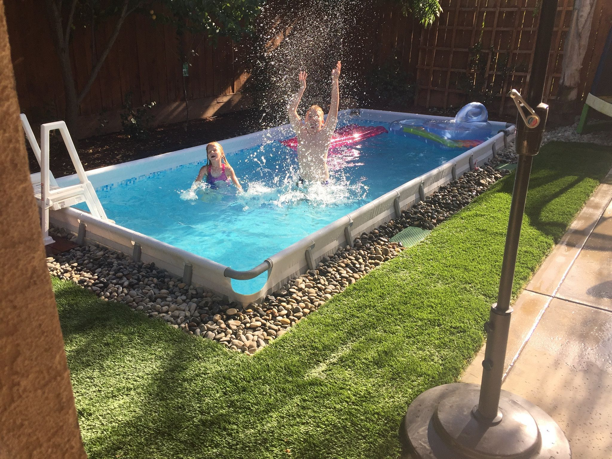 Swembad idee   Diy swimming pool, Pool designs