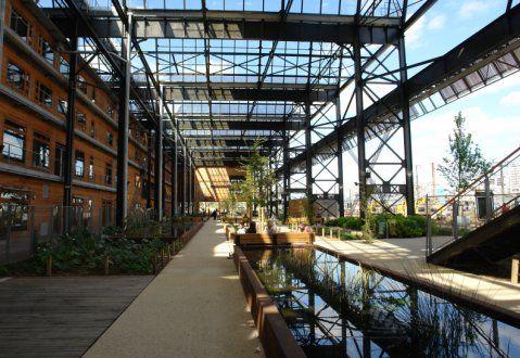 Le jardin Rosa Luxemburg et la Halle Pajol                                                                                                                                                                                 Plus