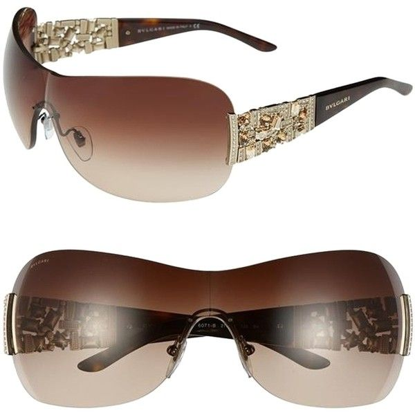 4f193cc5b0f Pre-owned Bvlgari Sunglasses Swarovski Crystal Shield 2015 Limited... ( 449)
