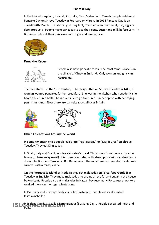 worksheet Hawaii Worksheets pancake day reading race primary 56 festivals pinterest worksheet free esl printable worksheets made by teachers