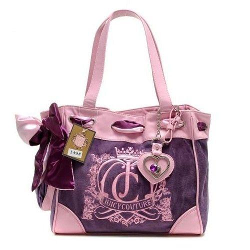 Juicy Couture Handbags | Juicy Couture Crown Crest Daydreamer Purple/Pink  Handbags