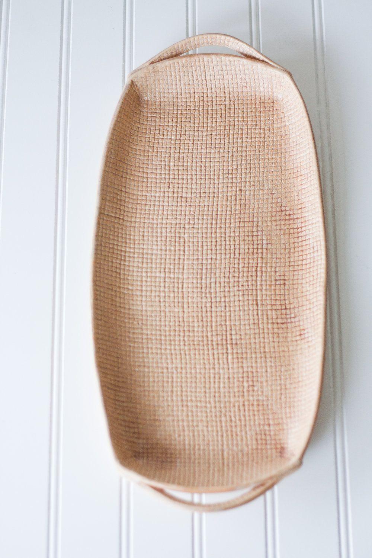 Handmade Pottery Tray - Burlap Brown - Ceramic Appetizer Plate ...