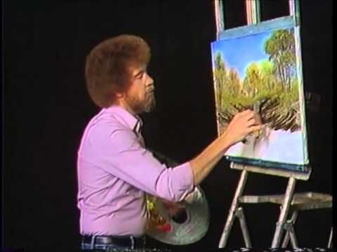 Bob Ross is magic. Thanks to watching this man on T.V while growing up, I like painting, and art.