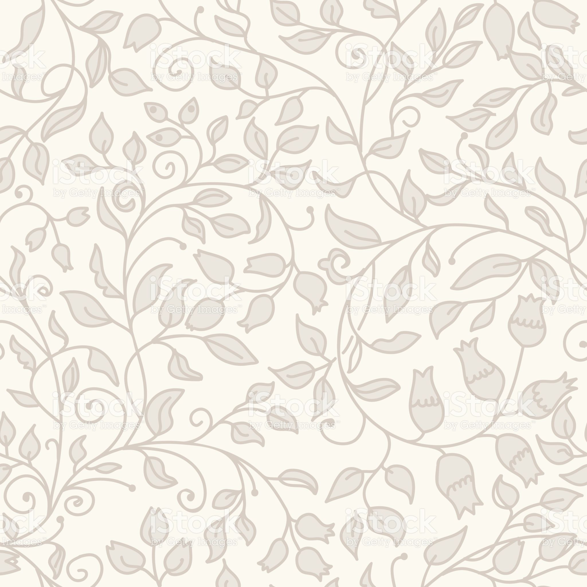 Black Flower And Bud Pattern Royalty Free Stock Photos: Seamless Floral Pattern In Folk Style With Flowers, Leaves