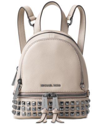 0980fe57940d MICHAEL Michael Kors Rhea Zip Mini Pyramid Stud Messenger Backpack ...
