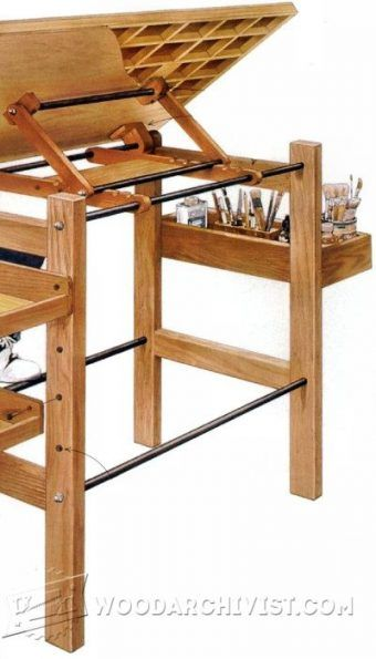 Fold Down Drafting Table Plans   Workshop Solutions Projects, Tips And  Tricks | WoodArchivist