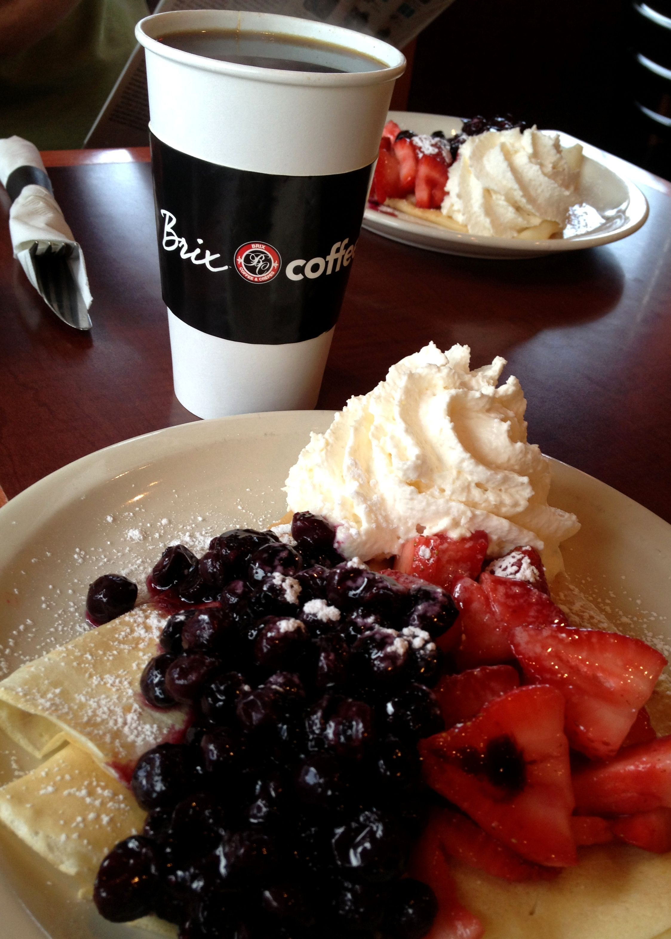 Brix Coffee & Crepes (also frozen custard!) - in Woodbury, MN