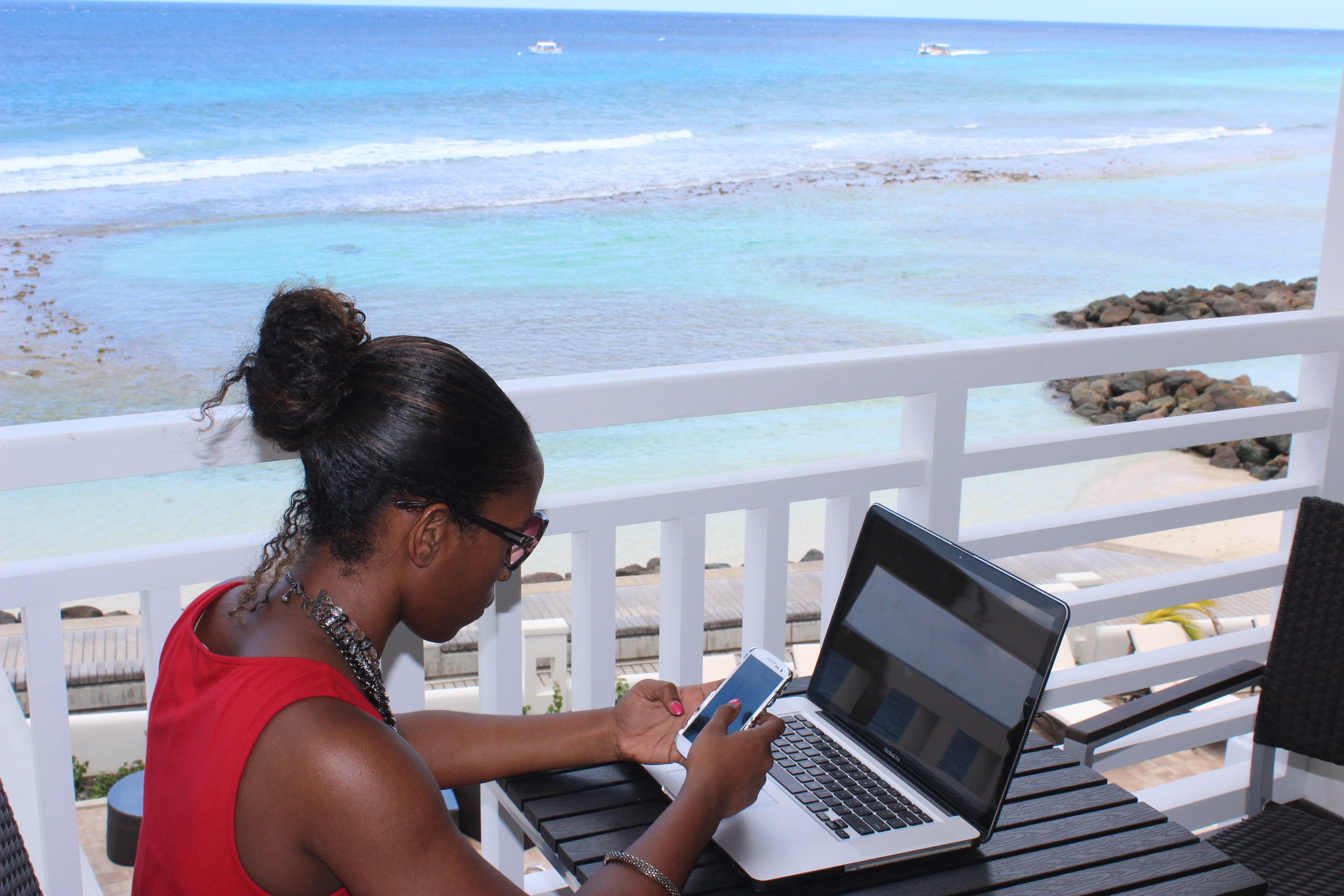 Whether for work or pleasure the SoCo Hotel boasts one of the best views in Barbados.  #Barbados #vacation