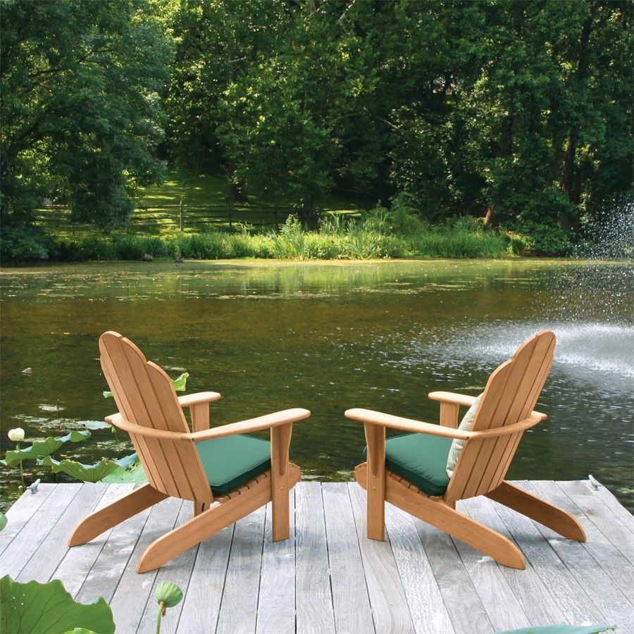 The Classic Adirondack Chair Built With Solid Teak For A Lifetime