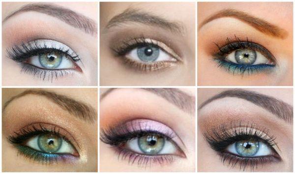 maquillage yeux gris-bleu-vert