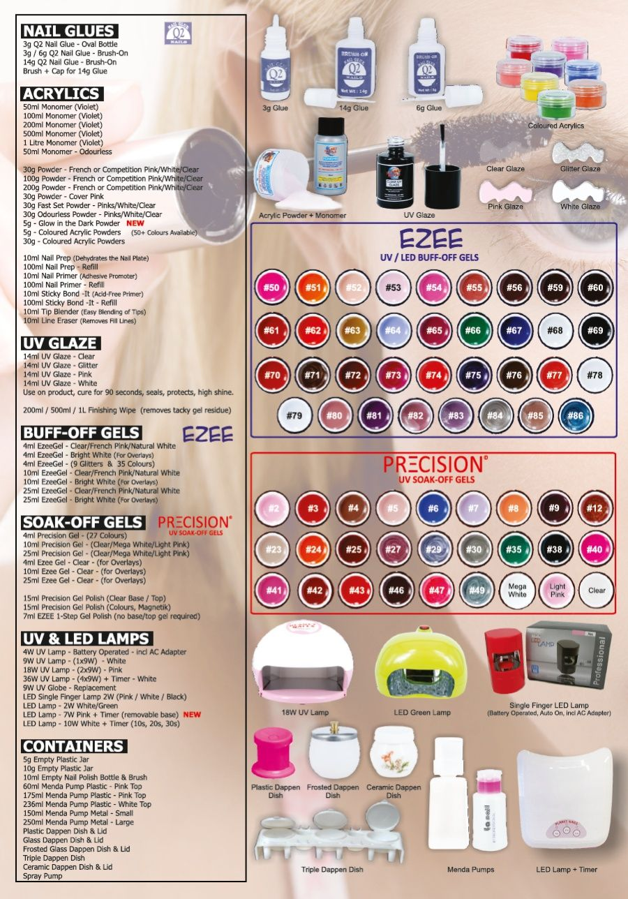Nails Australia Pricelist Over 1800 products