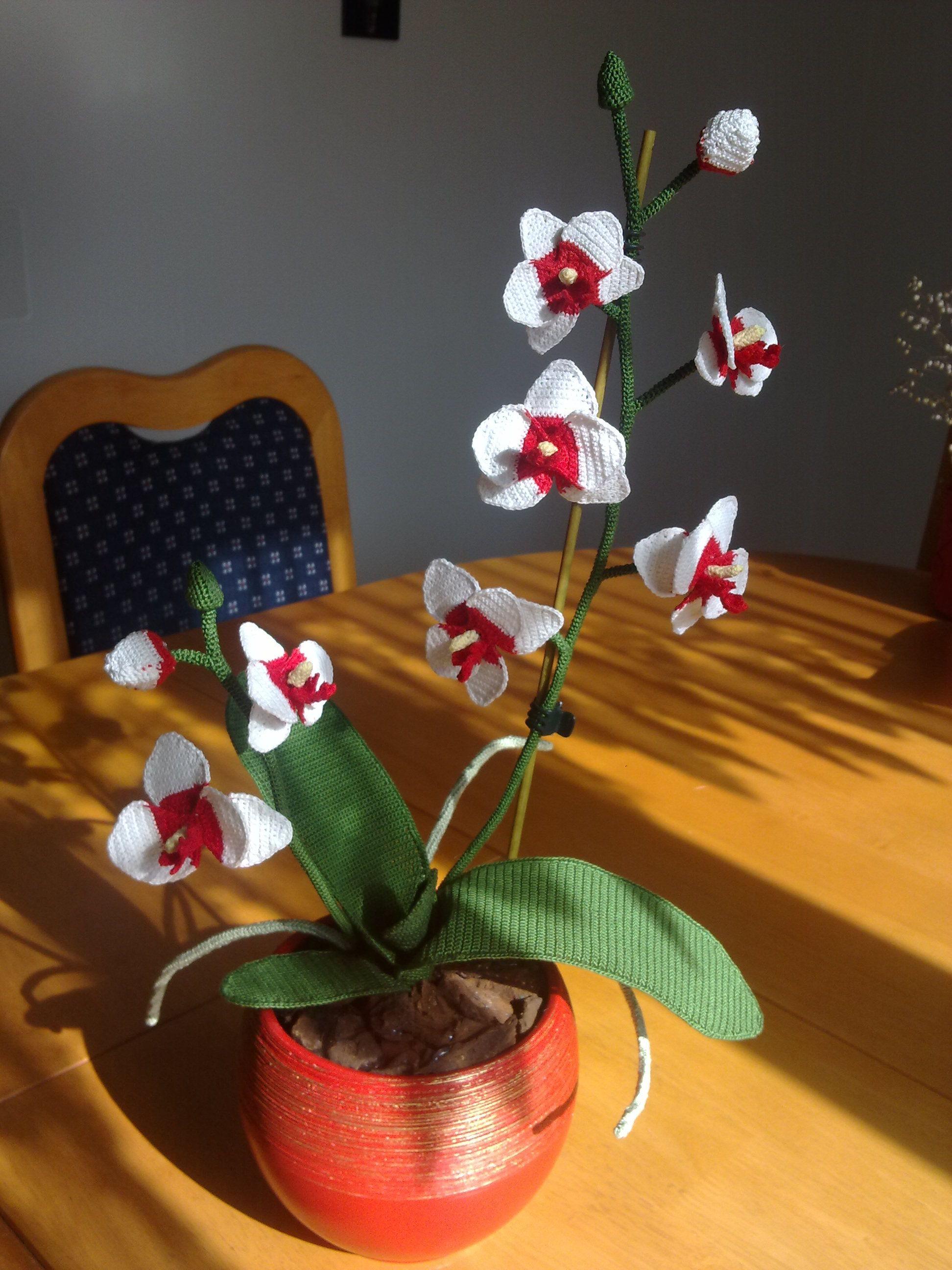 crochet flower orchid ti rg cicekler pinterest h kelblumen geh kelte blumen und blumen. Black Bedroom Furniture Sets. Home Design Ideas