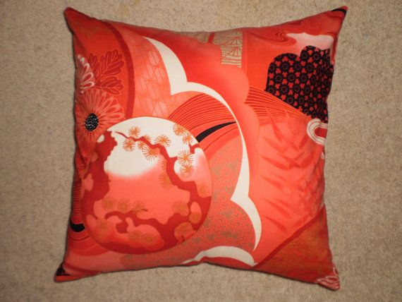 Japanese style cushion cover 45cm X 45cm 100 cotton by lynandlilly, $35.00
