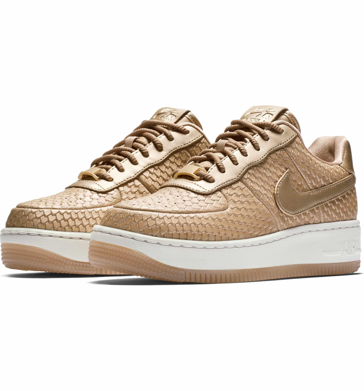 Nike Air Force 1 Upstep Premium Platform Sneaker (Women