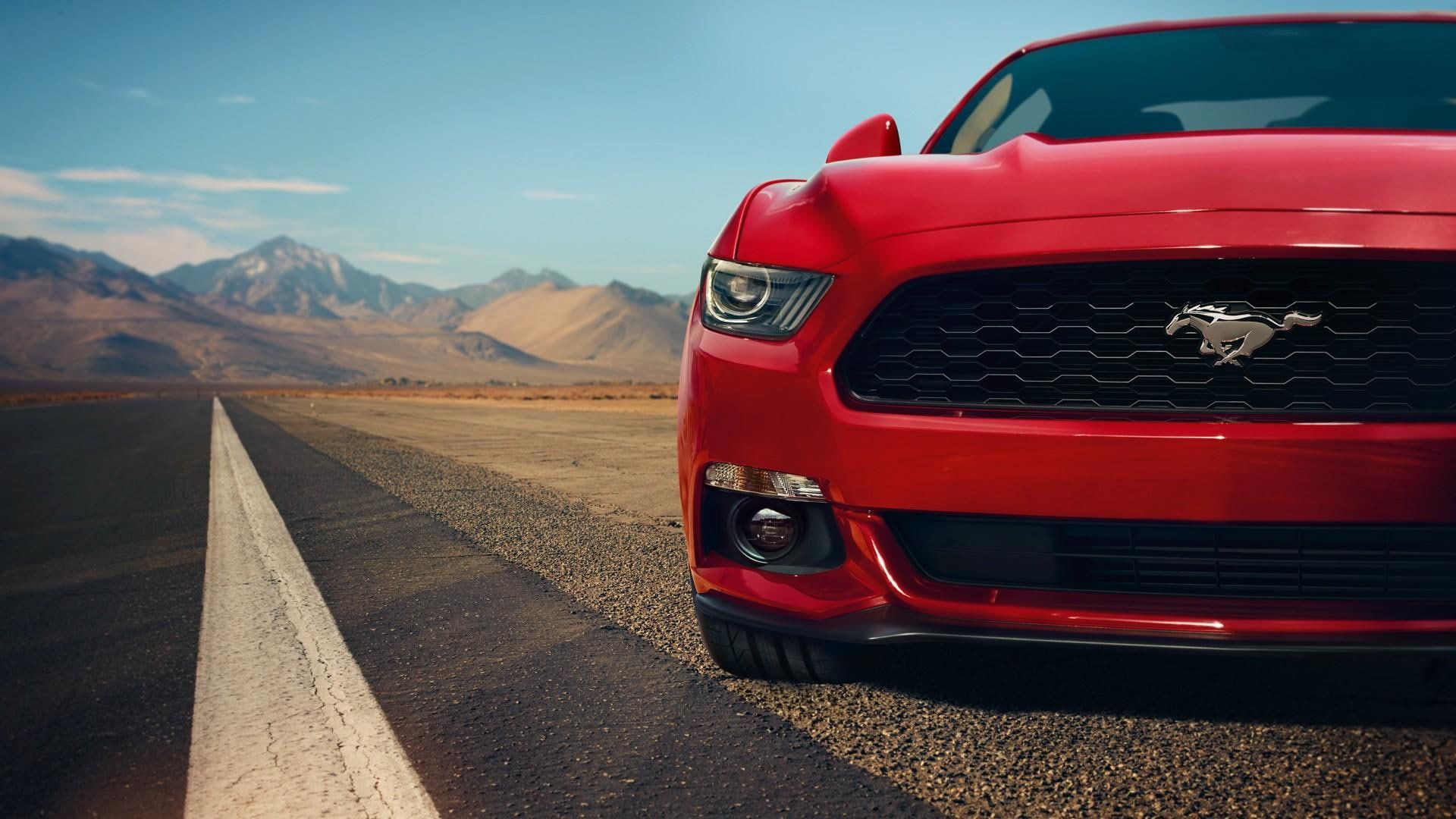 Ford Mustang Red Highway Car 1080p Wallpaper Hdwallpaper Desktop Ford Mustang Wallpaper Mustang Wallpaper Ford Mustang Gt