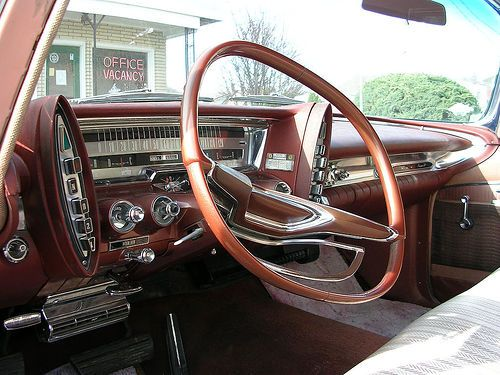 Chrysler Imperial Dashboard Note The Squared Oval Steering Wheel