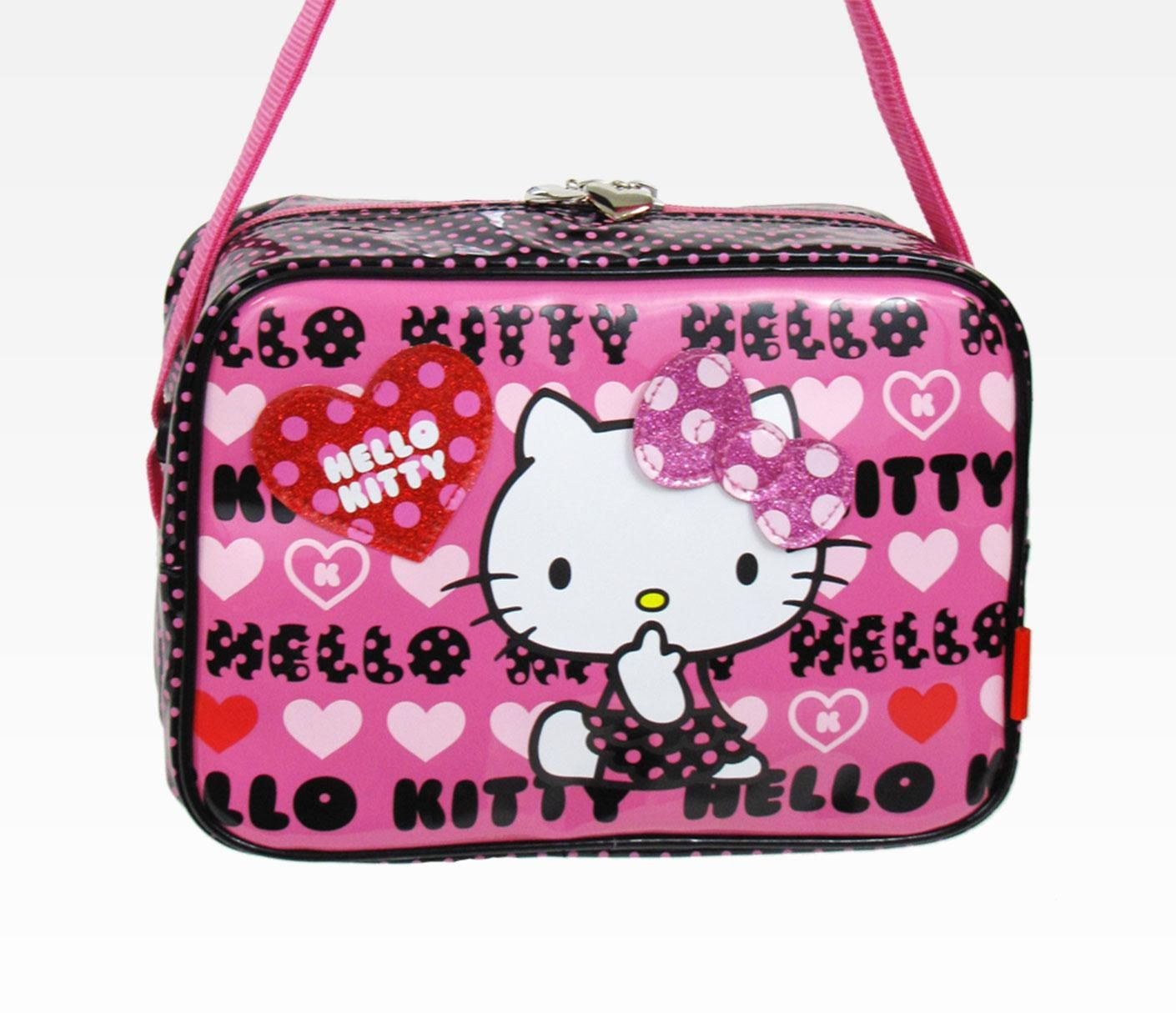 Hello Kitty Shoulder Bag Black Dot Heart
