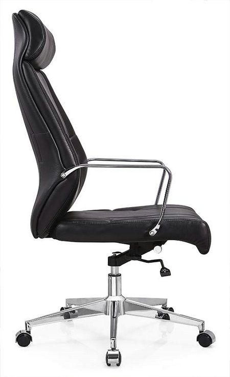 deauville swivel black pu leather manager office computer chair 2