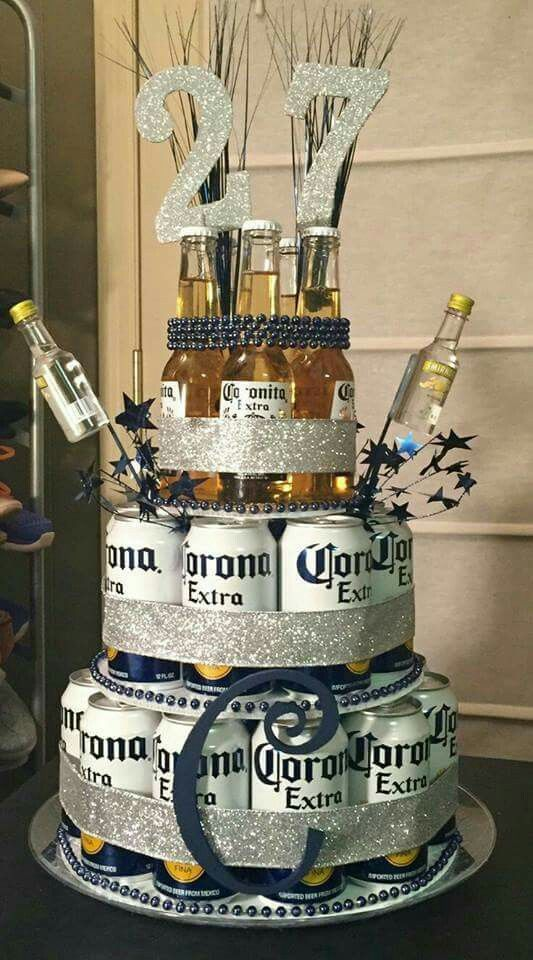Beer bottle birthday caketower bachelor party birthday party