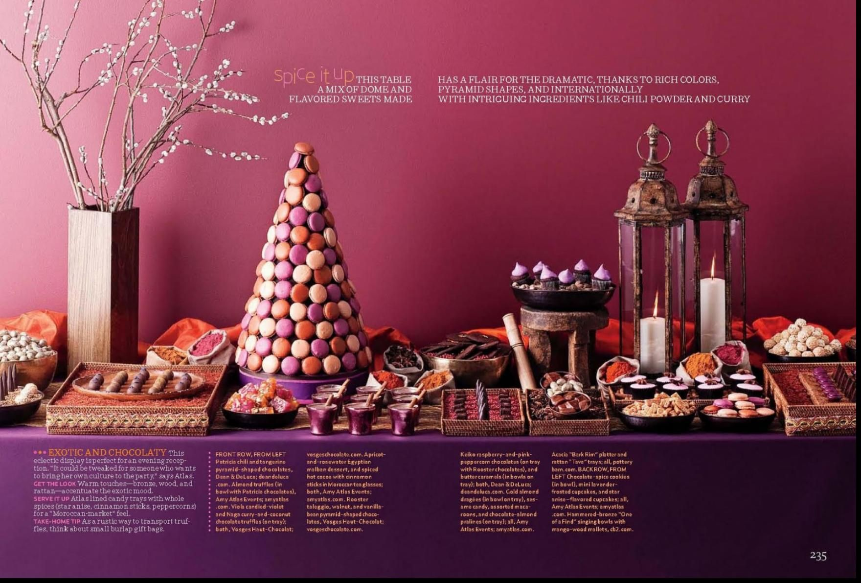 Incredible Chocolate Dessert Table With Moroccan Favors  We Can