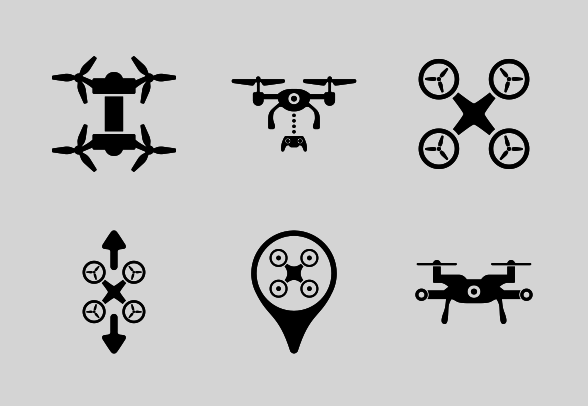 Drones Icons By Freelancer Drone Logo Drone Computer Icon