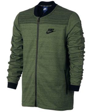 Nike Men's Sportswear Advance 15 Bomber Jacket Green 2XL