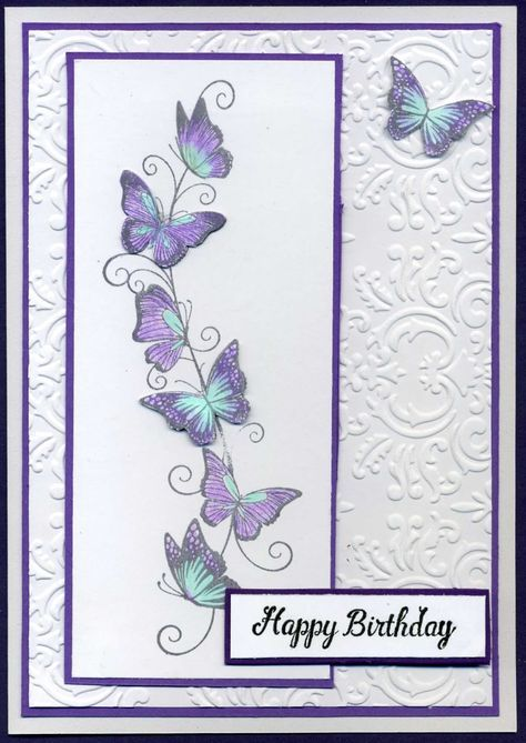 Butterfly Border With Images Embossed Cards Paper Cards