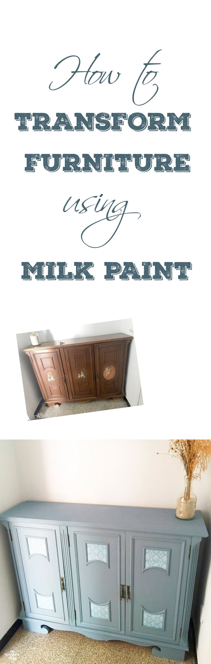 How to transform furniture easily with old fashioned milk paint · My Sweet Things