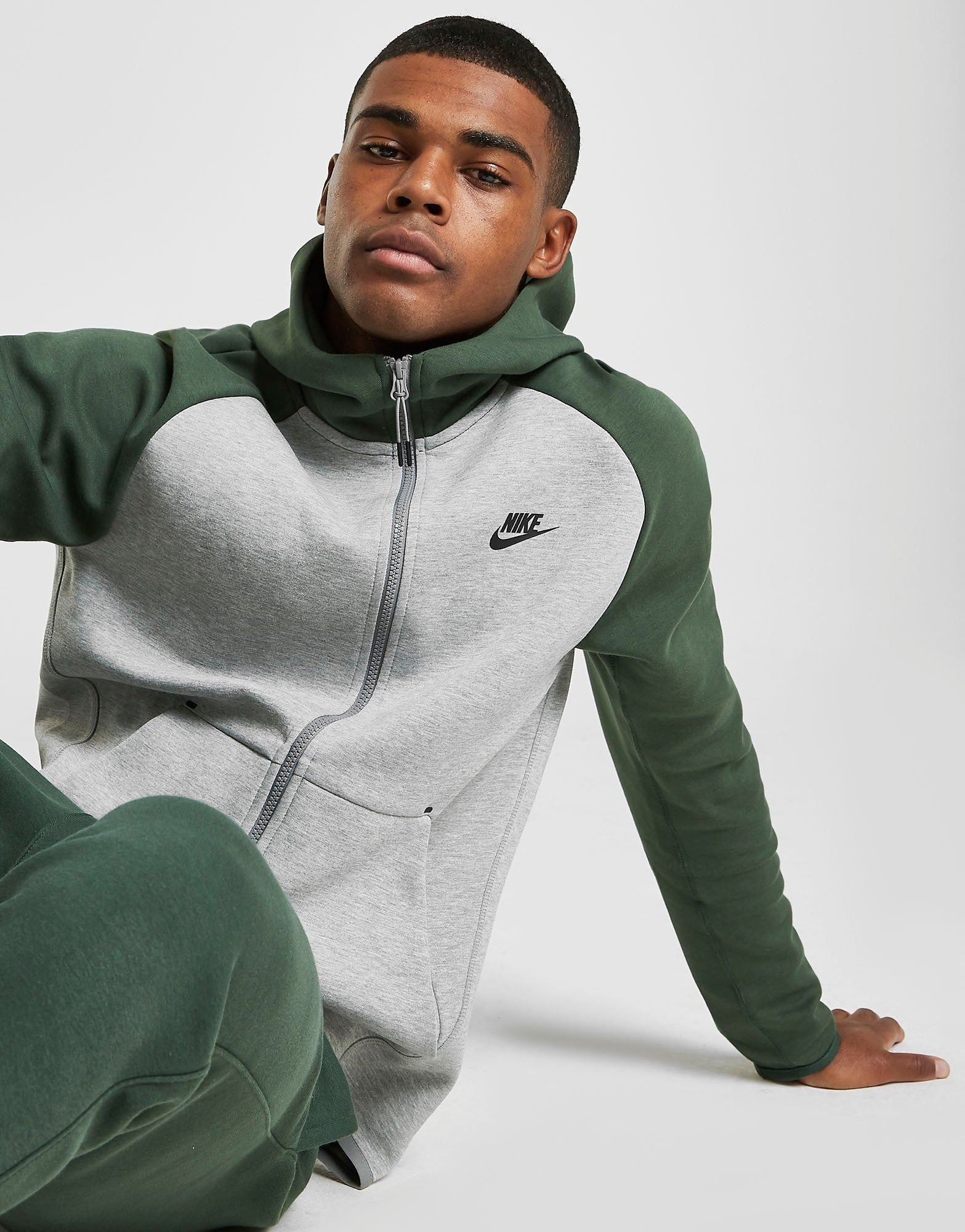 Acherter Gris Nike Sweat à capuche Tech Polaire