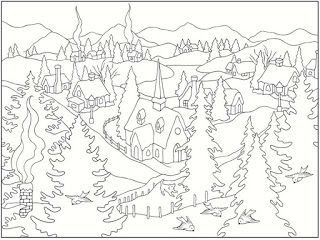 Winter Scenes Free Printable Coloring Pages Christmas Coloring