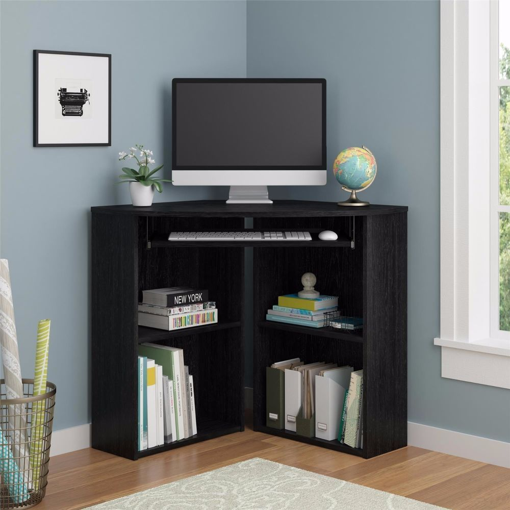 Corner Desk For Small Space Home Office Keyboard Drawer