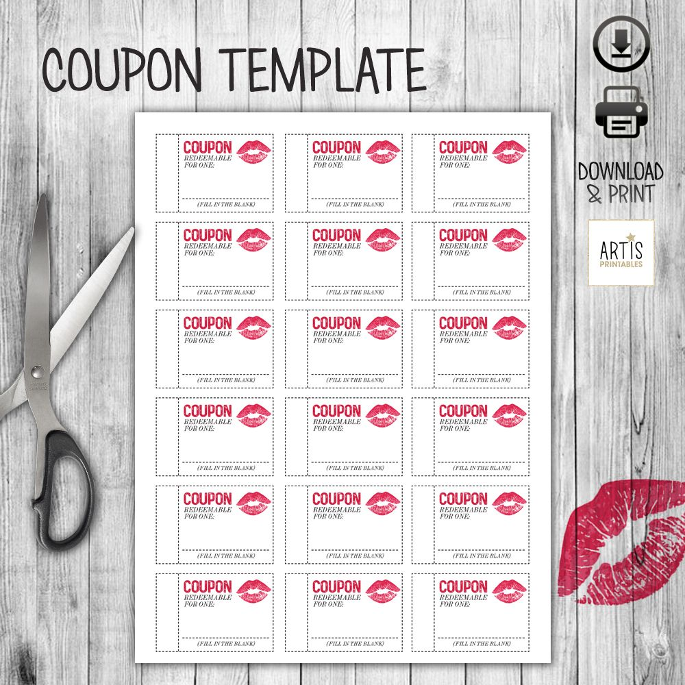 This Printable Coupon Booklet Is The Perfect Gift You Can -6826