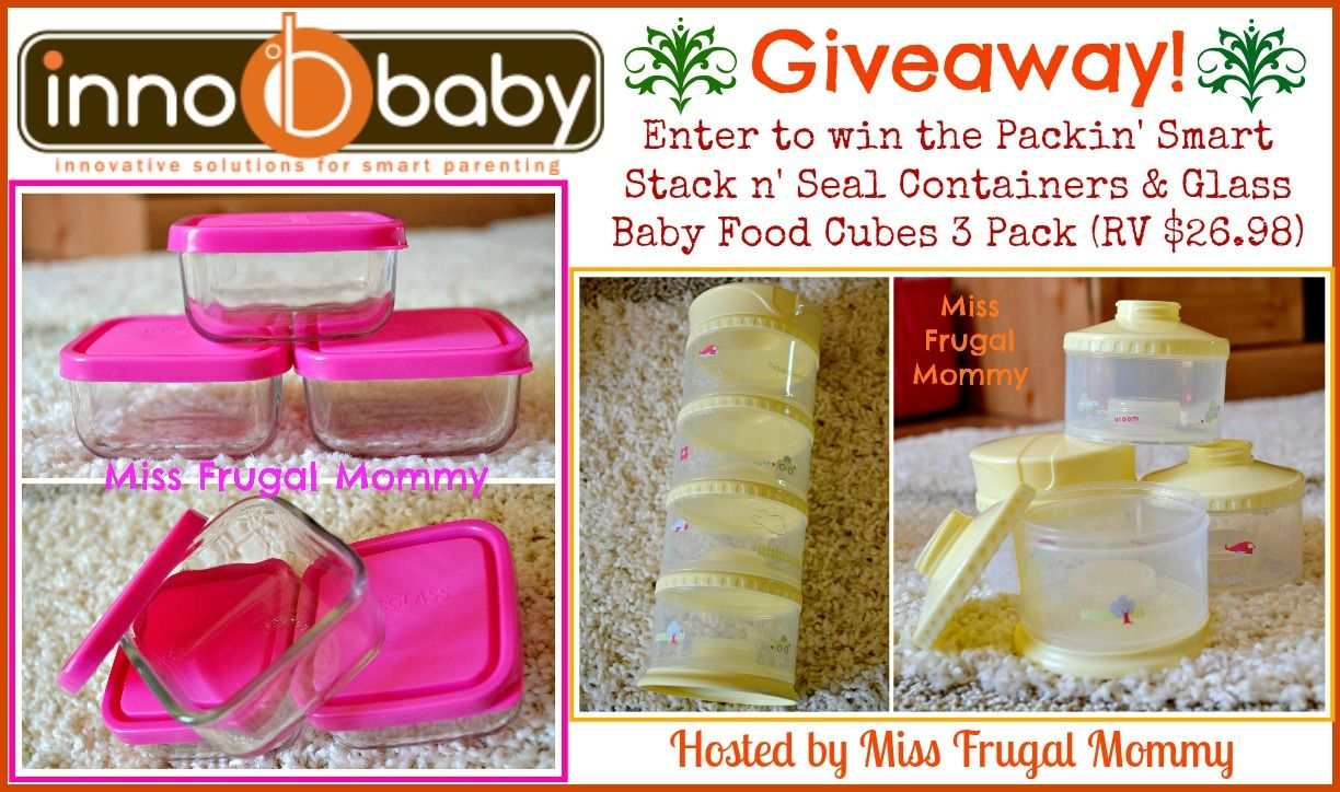 Innobaby Glass Baby Food Cubes & Packin' Smart Giveaway