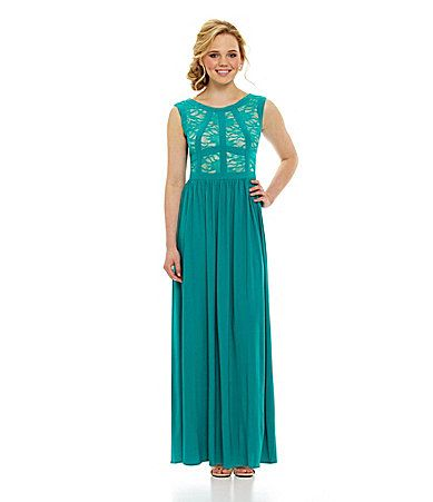 cc6bffaf361 I am getting this dress for the spring banquet  ) Morgan and Co Lace VBack  Gown  Dillards