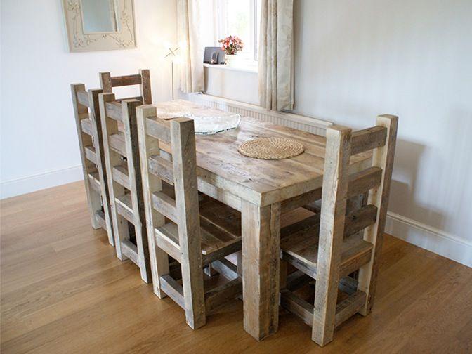 Handmade Hudson Dining Chair #eatsleeplive #reclaimedwood #dining Simple Handmade Dining Room Chairs Design Ideas