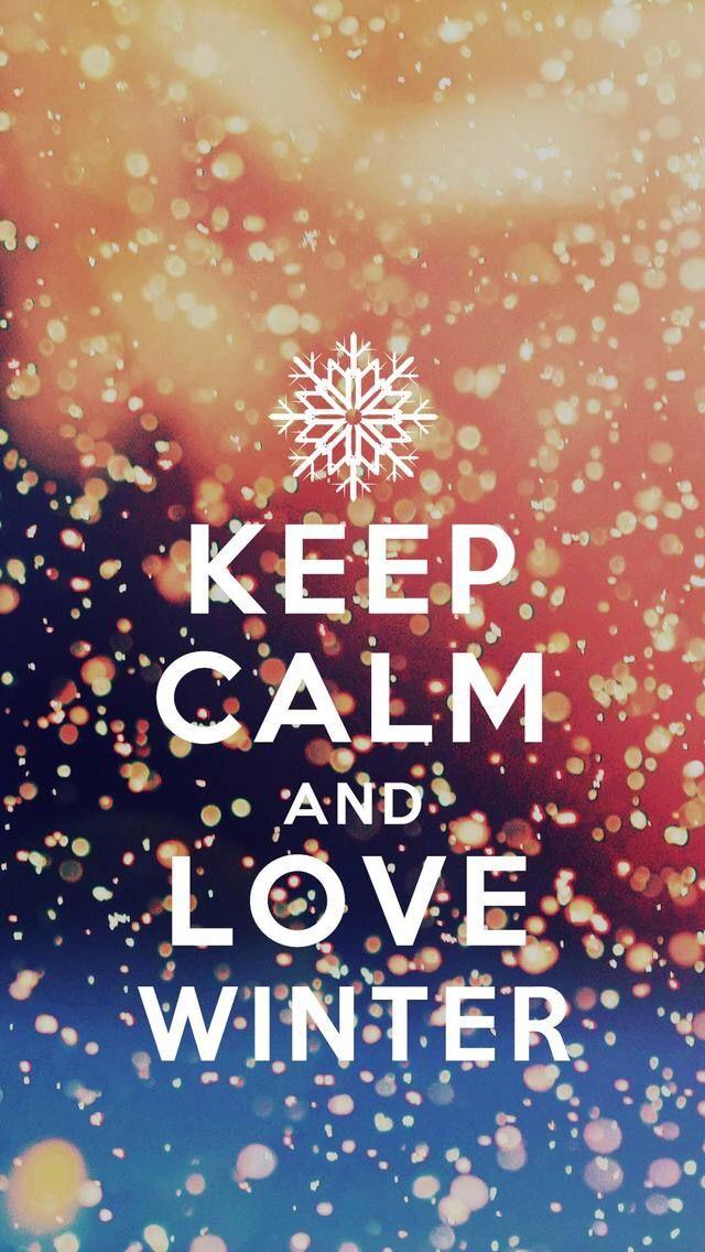 Wallpaper iPhone/keep calm ⚪️ Iphone wallpaper winter