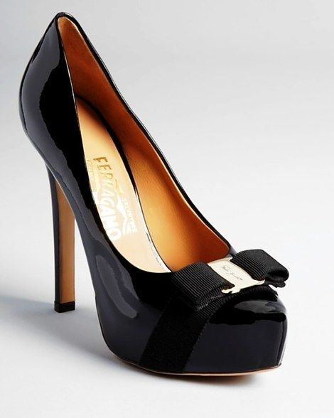 Salvatore Ferragamo Trilly Bow Pointy Pumps
