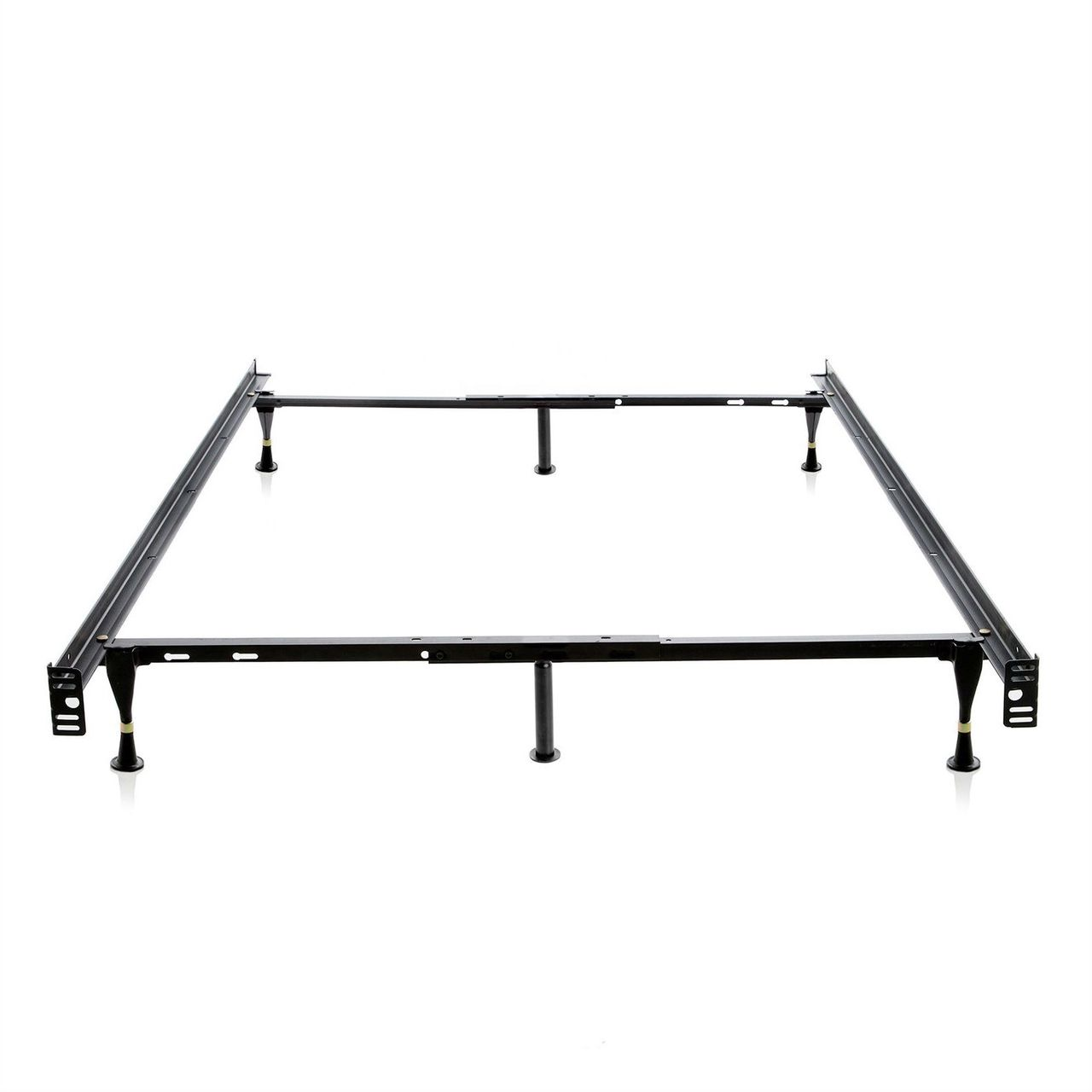 Twin Full Sturdy 6 Leg Metal Bed Frame With Glide Legs Met