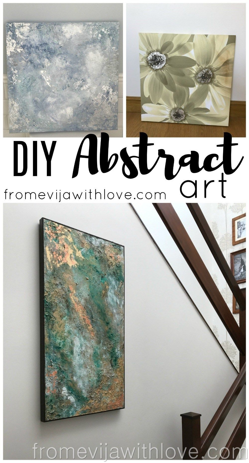 Make your own abstract art on a budget artwork display and crafty