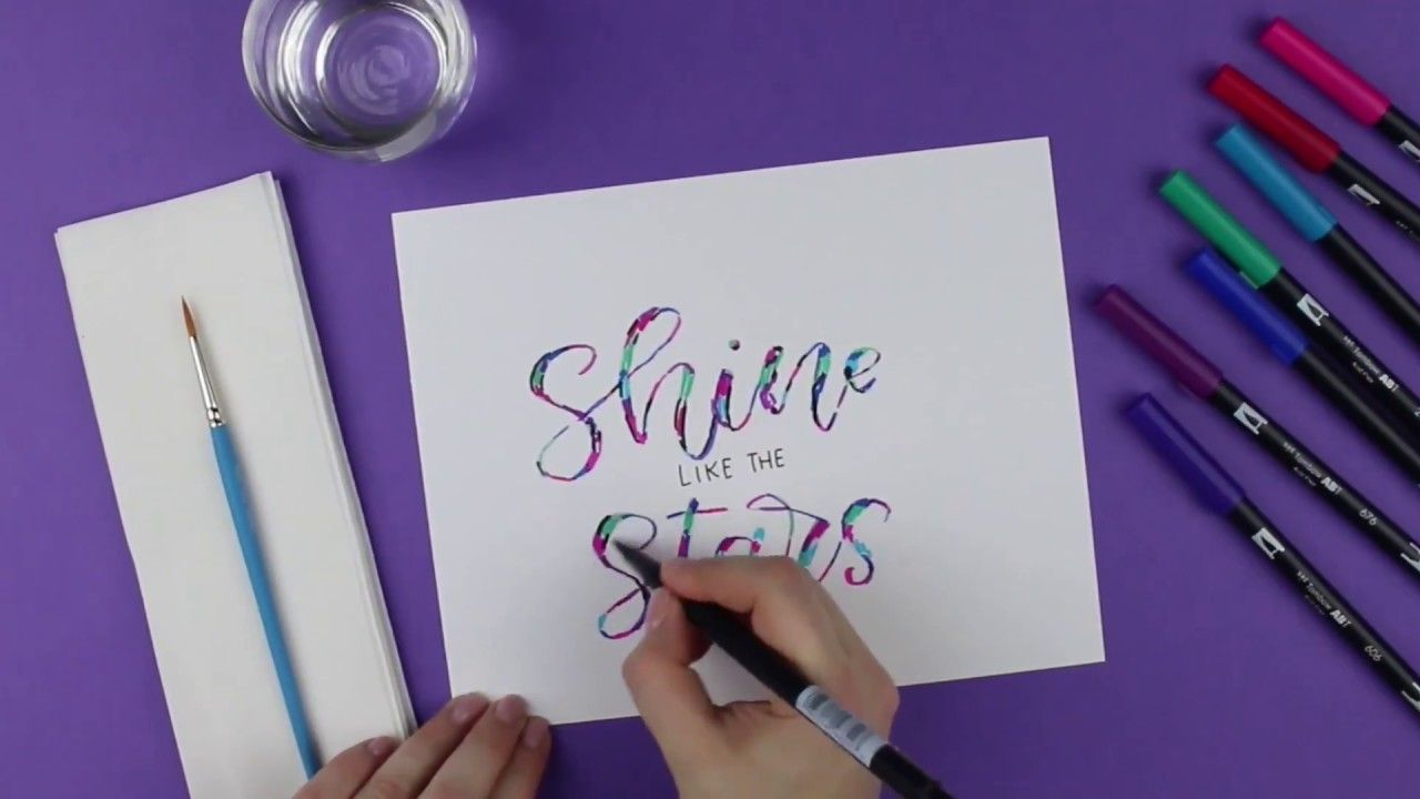 Tombow Galaxy Hand Lettering Michaels With Images Hand