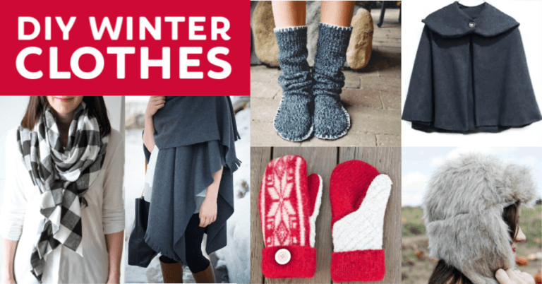 10 Diy Winter Clothes And Accessories Fabulessly Frugal In 2020 Diy Winter Clothes Winter Outfits Winter Diy