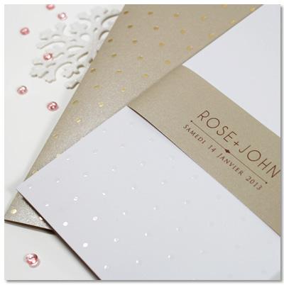 Idée faire part pour votre mariage en hiver - Dancourt Paris, Collection Prestige #fairepart