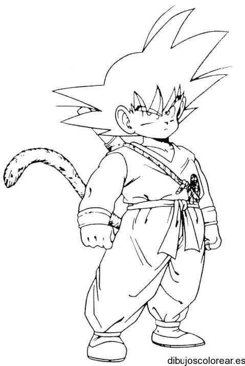 Resultado De Imagen Para Colorear Anime Como Dibujar A Goku Dibujo De Goku Libro De Colores