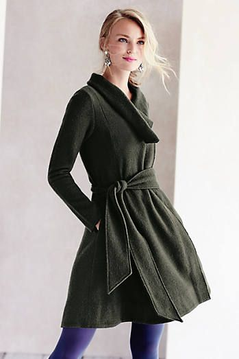 Shawled Wool Sweatercoat
